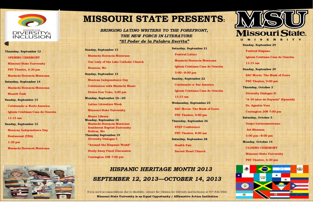Hispanic Heritage Month Event Flier