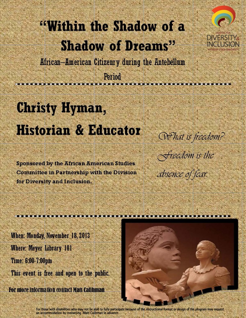 Flier-Christy Hyman