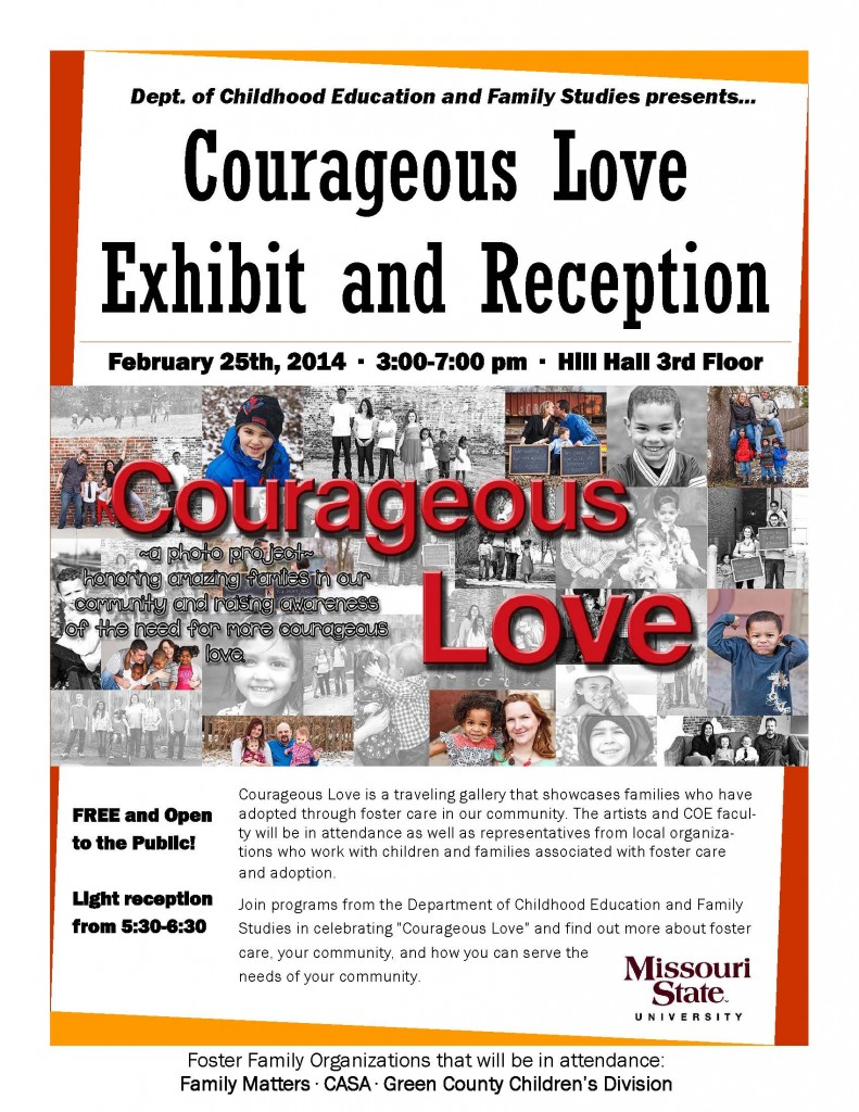 Courageous Love flyer