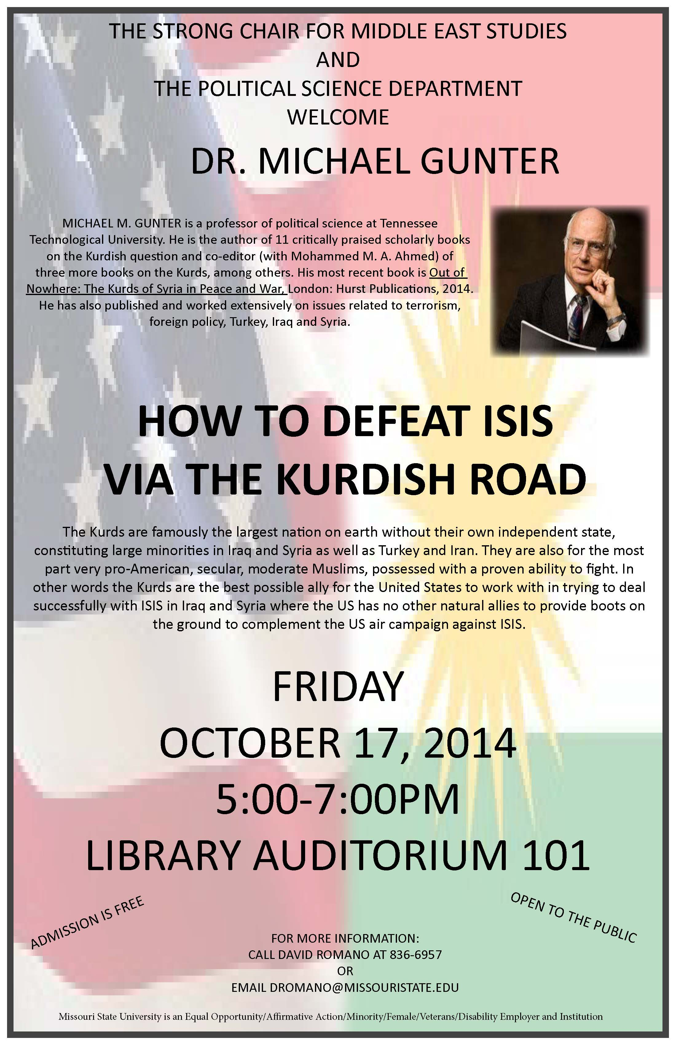 Presentation: How to defeat ISIS via the Kurdish Road