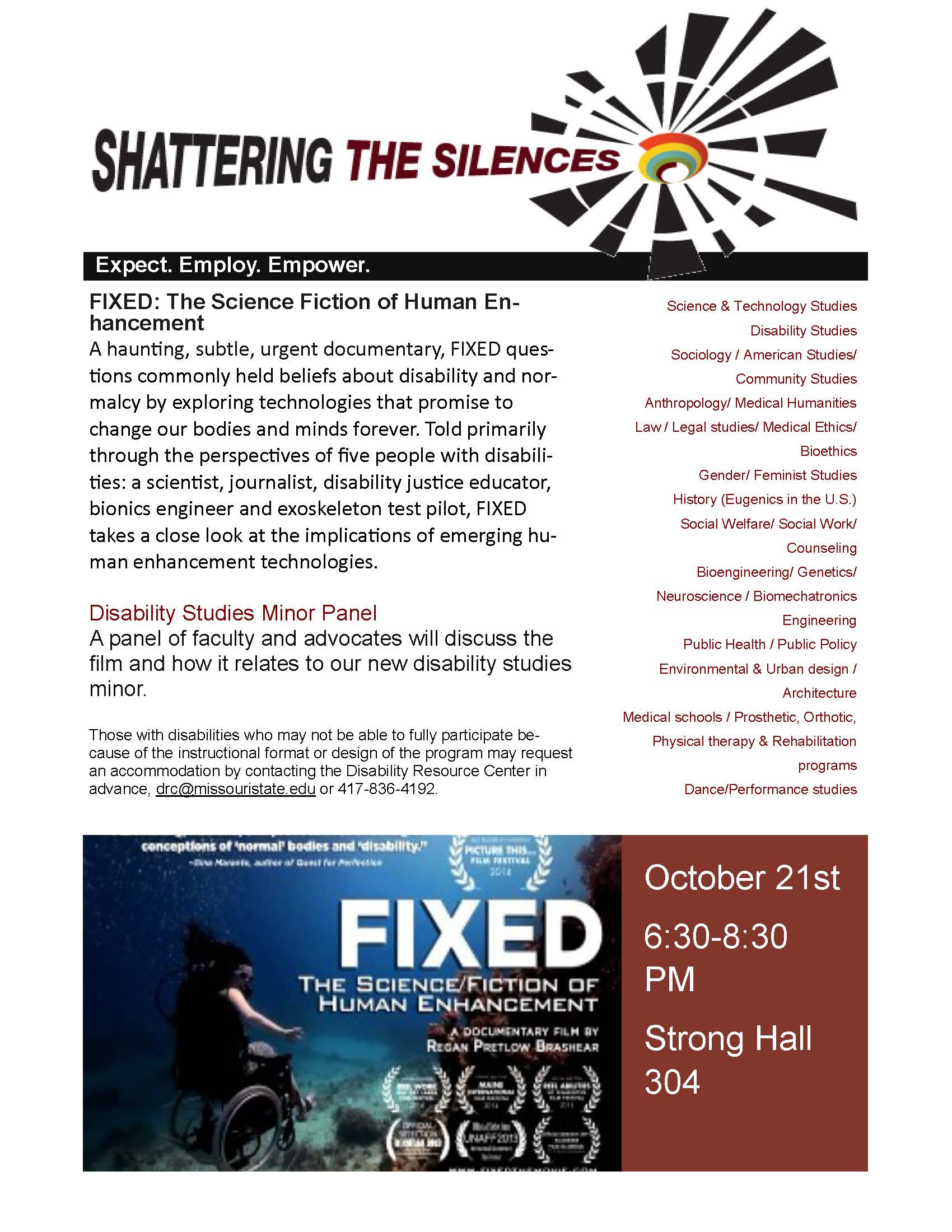 Panel Discussion: Fixed: The Science Fiction of Human Enhancement