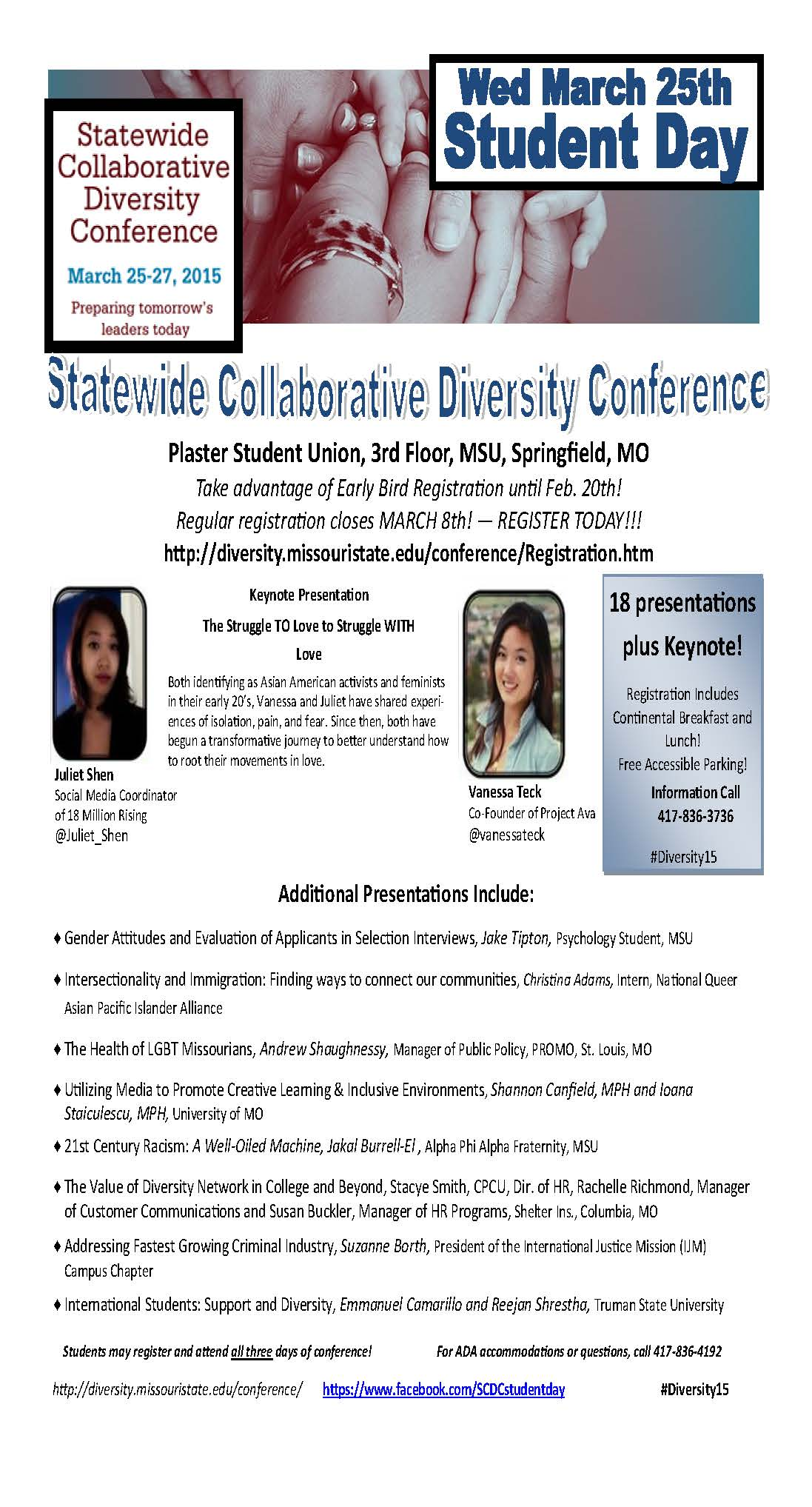 Statewide Collaborative Diversity Conference: Student day