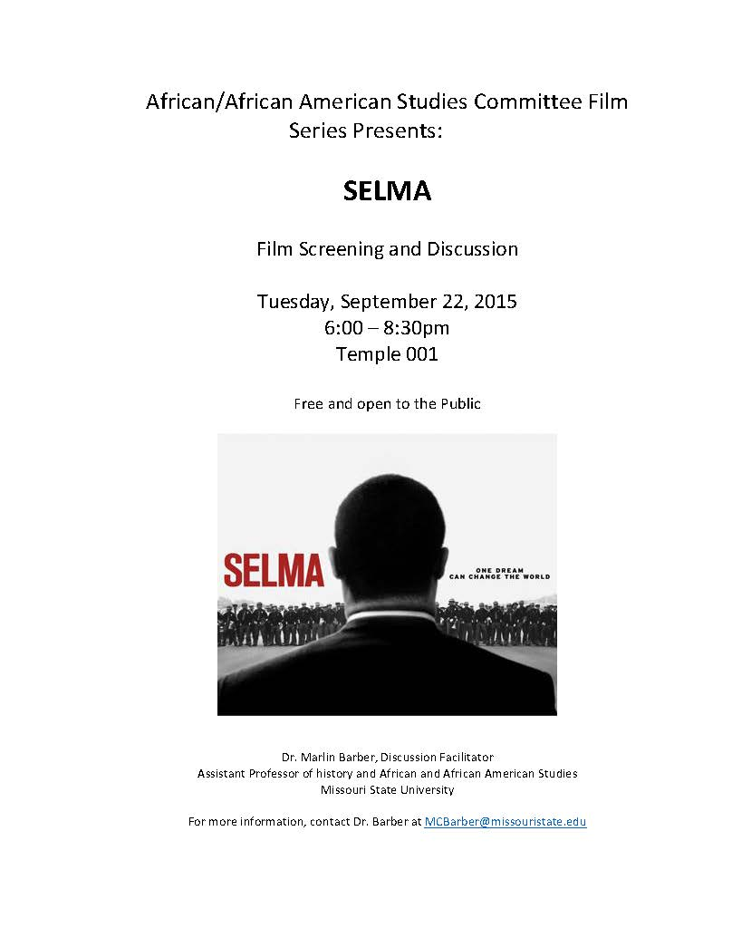 Film screening and discussion: Selma