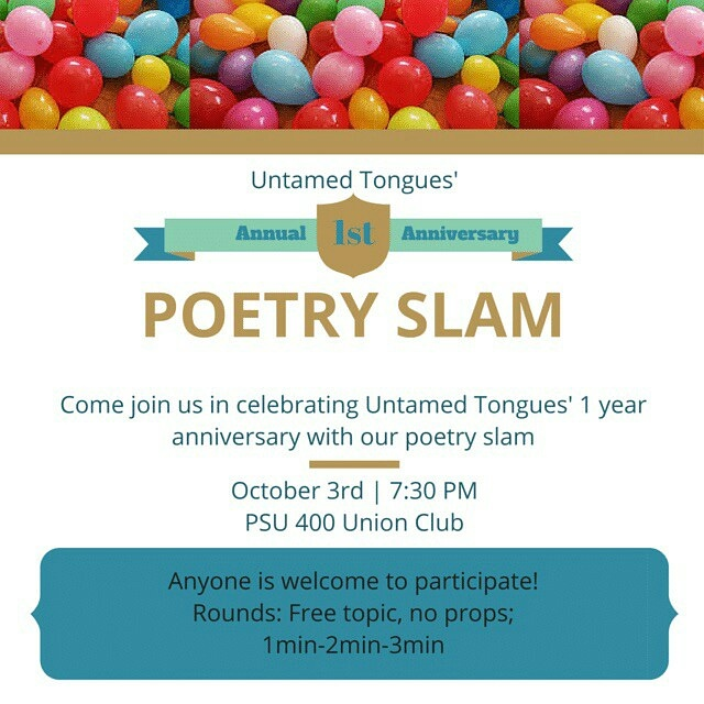 Untamed Tongues' 1st anniversary poetry slam