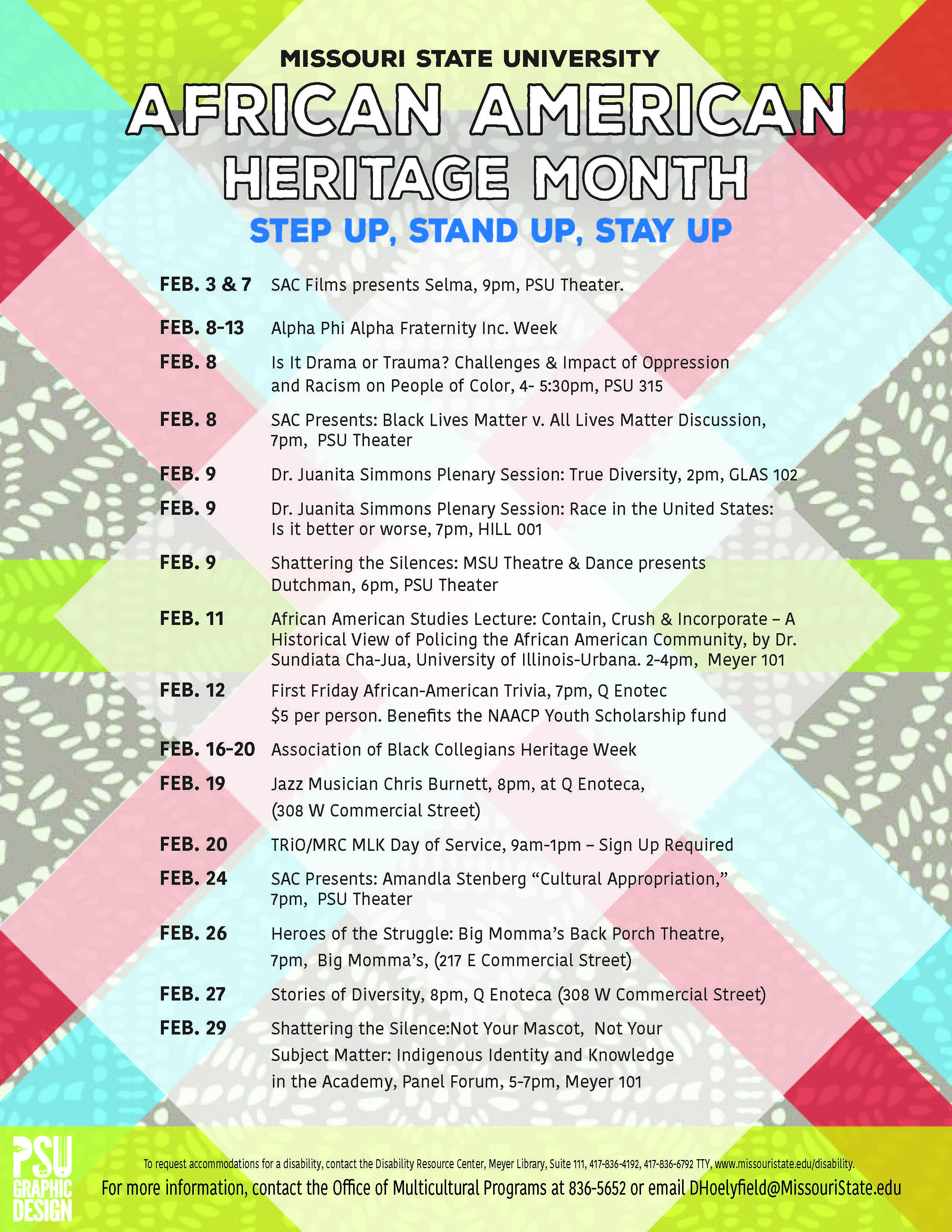 Upcoming Events: African American Heritage Month