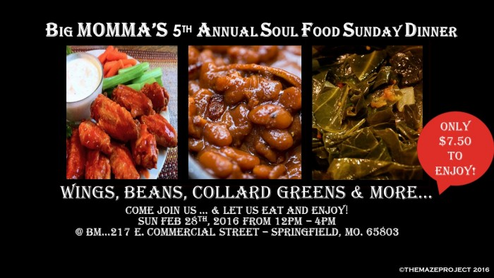 Big mommas 5th annual soul food sunday dinner forumfinder Images
