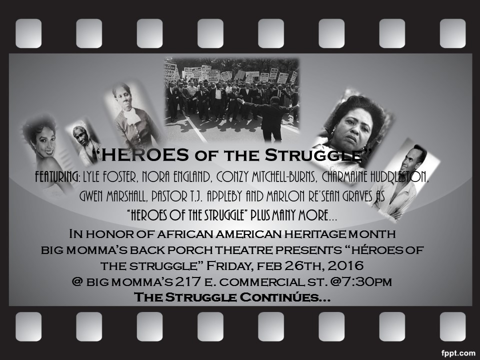 EVENT: Heroes of the struggle