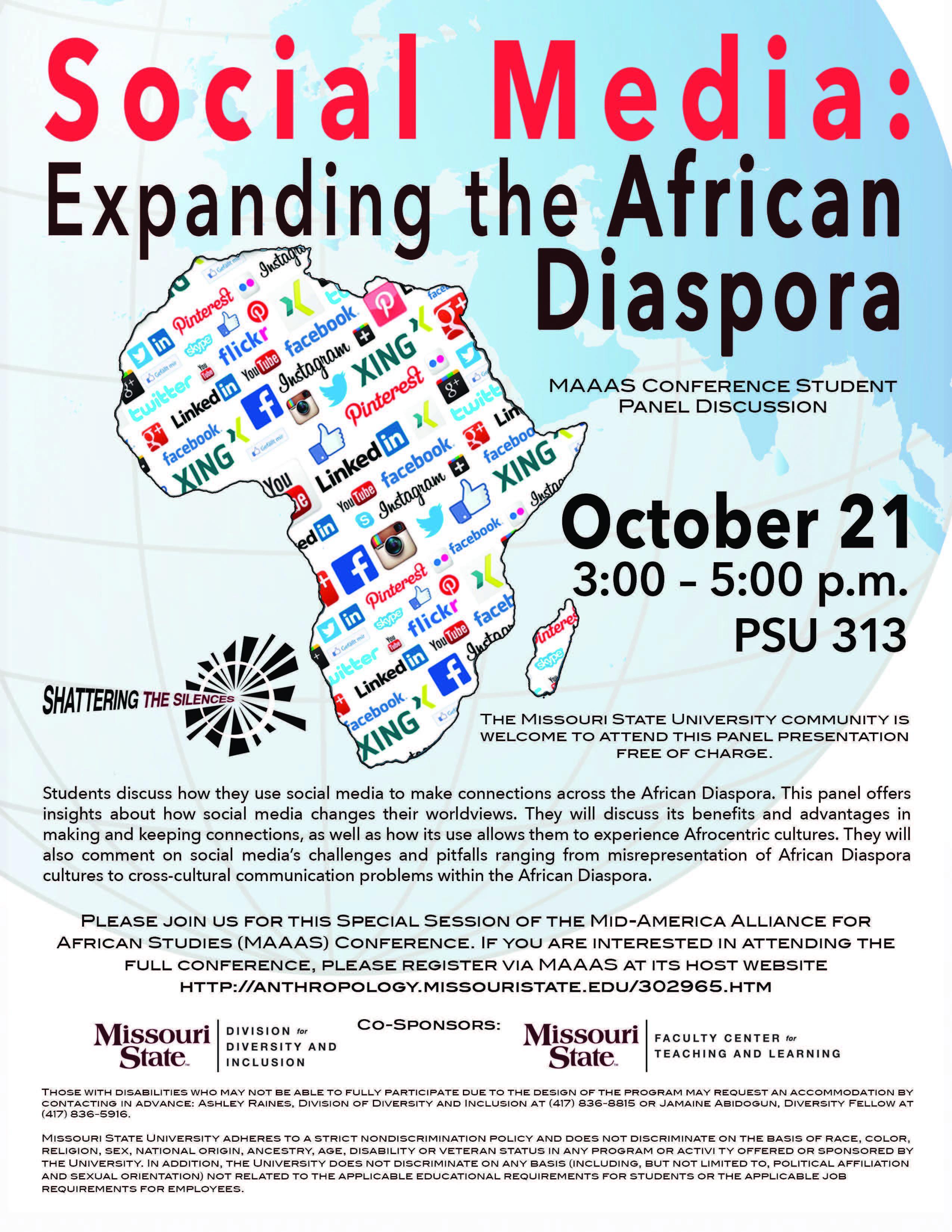 Shattering the Silences Series: Social Media: Expanding the African Diaspora