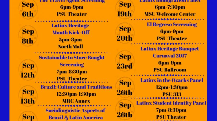 2017 Latinx Heritage Month Events