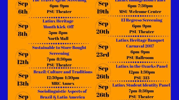 2017 Latinx Heritage Month Events