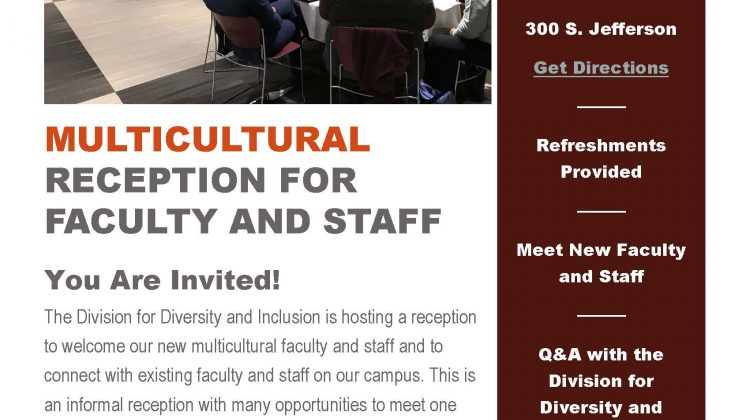 Event: Multicultural Reception for Faculty and Staff