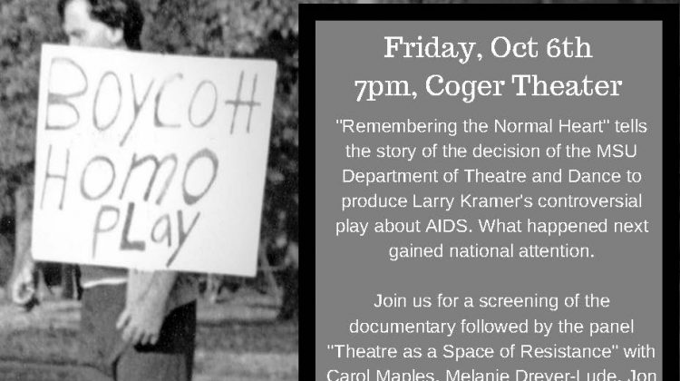 Event: Remembering the Normal Heart: AIDS, Art, and Activism in the Ozarks