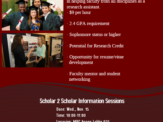 Scholar2Scholar Program Information Session