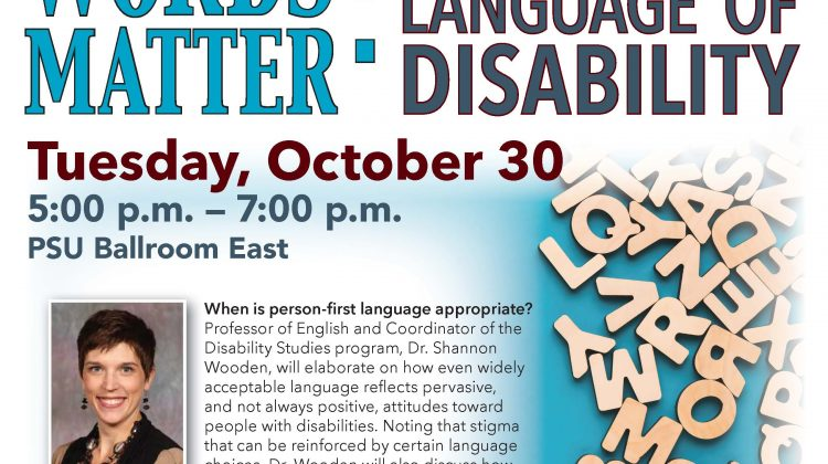 Shattering the silences: Words matter: The evolving language of disability
