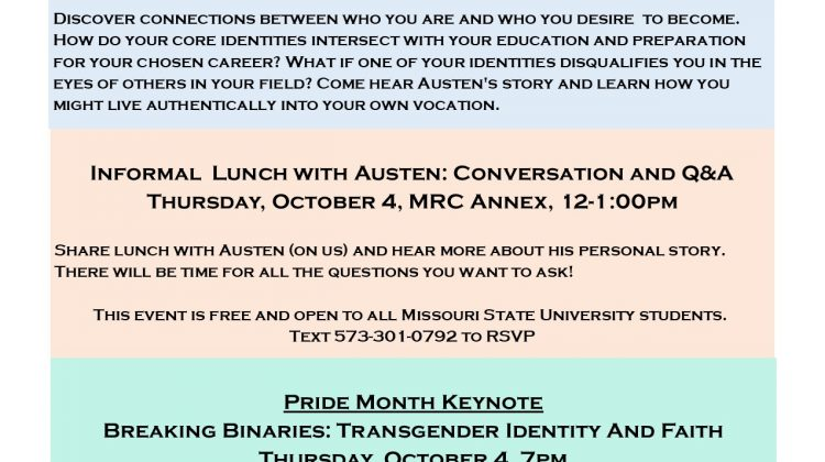 EVENT: Identity and vocation workshop with Austen Hartke