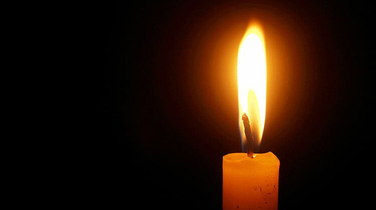 Image of lit candle
