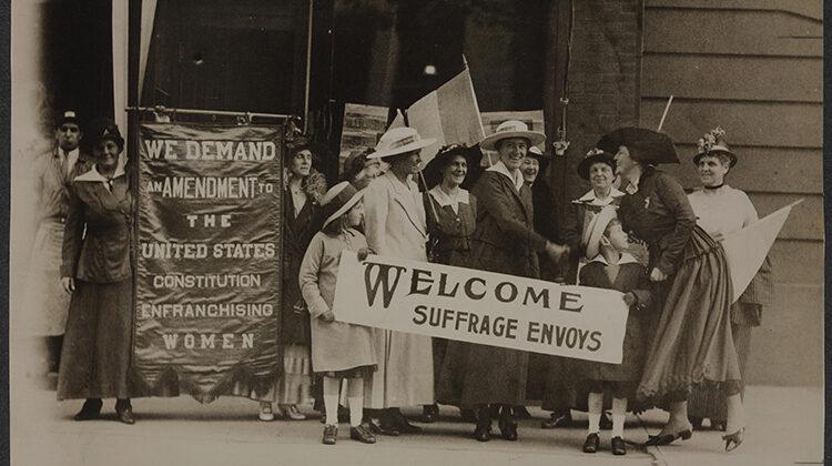 Photo of suffrage envoys
