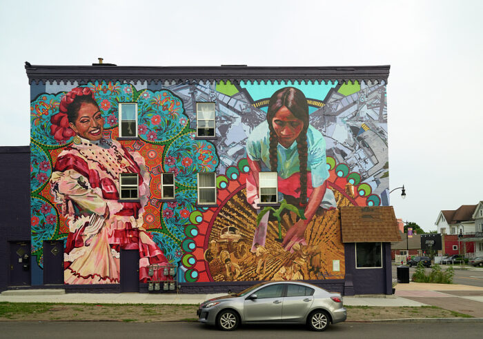 Photo of a mural celebrating the contributions of the Hispanic and Latinx communities in Buffalo, New York