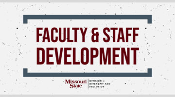 Text: Faculty & Staff Development with Division for Diversity and Inclusion logo