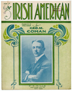 The Irish American by George M. Cohan, sheet music cover