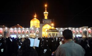 Iranians observing Qdar Night in Imam Reza shrine