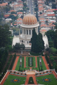 A photo of the Shrine of the Bab in Haifa, Israel