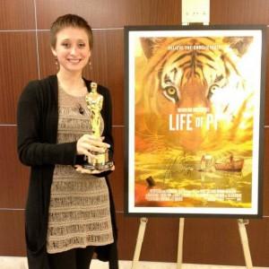 Gloria Cohen Shomo (EA 2008) -- Digital Coordinator on Life of Pi.