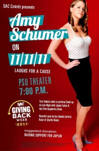 Amy Schumer 11/11/11 at 7 PM PSU Theater