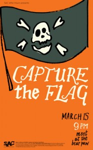 Play a campus wide game of capture the flag March 15