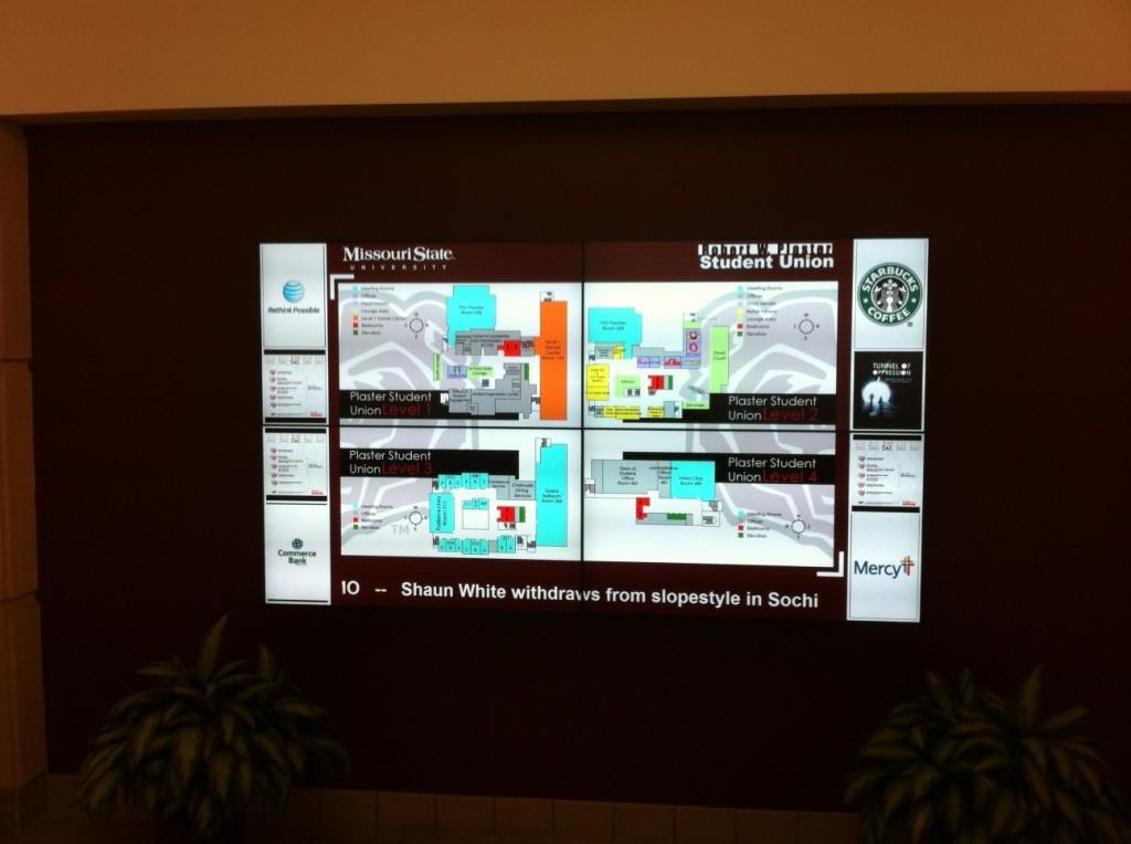 E-bulletin LED screen