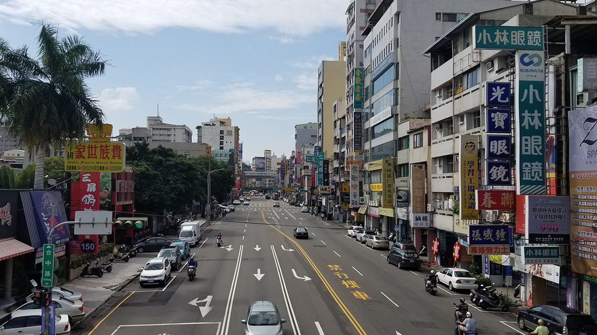 A city street in Taiwan.