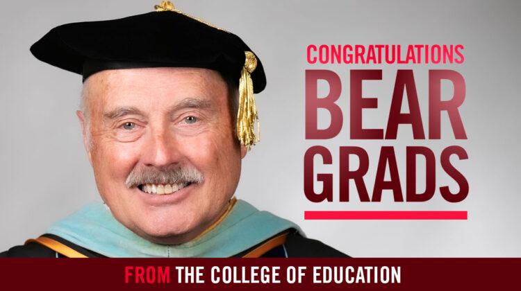Dr. David Hough congratulates 2020 spring graduates.