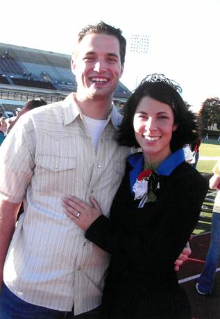 Matthew Ketteman and his wife, Kim, during their Missouri State days.