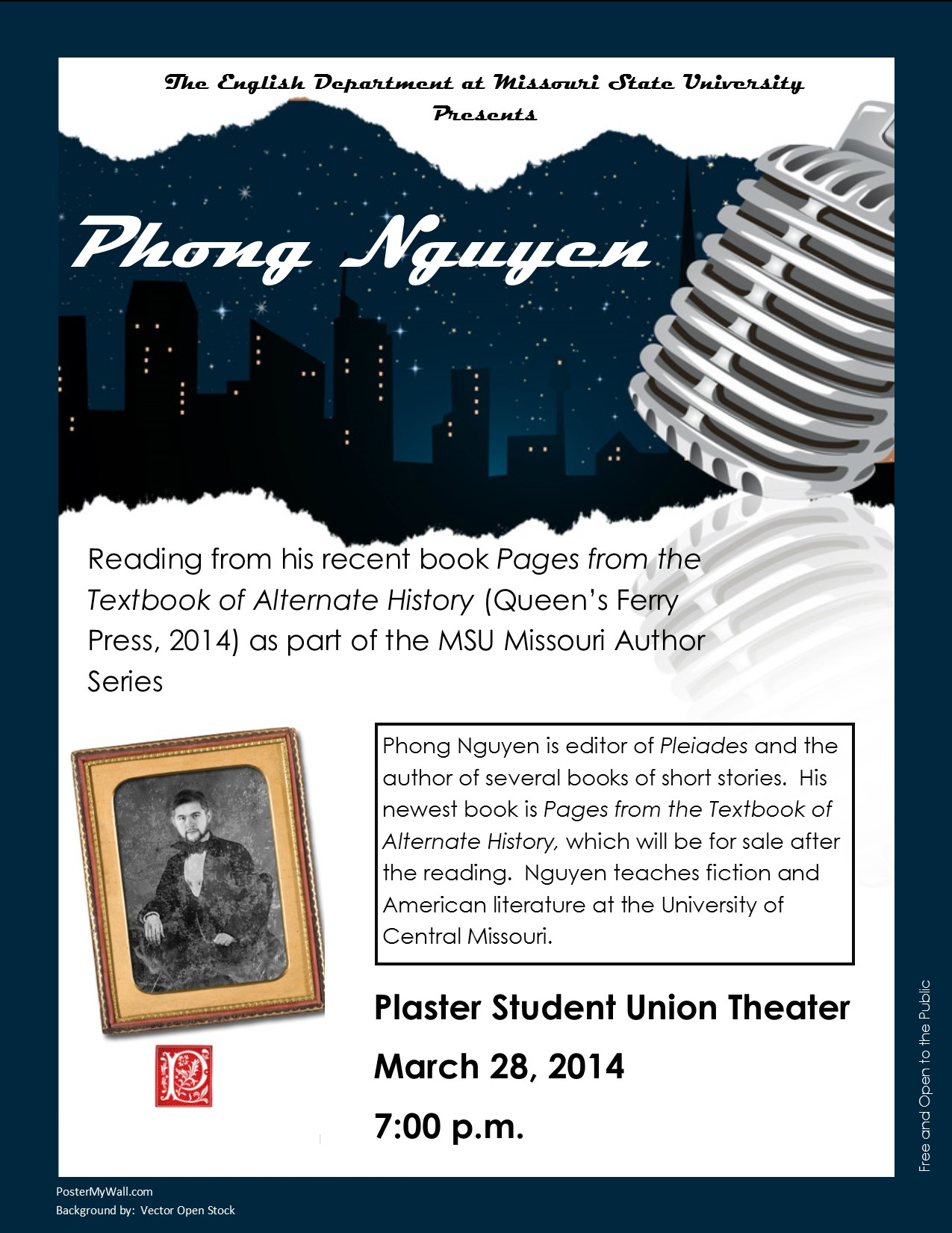 Author Phong Nguyen shares from his new book on March 28