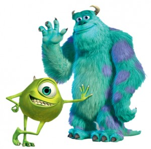 The physical differences between Pixar's Mike (left) and Sully (right) are obvious to viewers. Photo Credit: Disney-Clipart.com