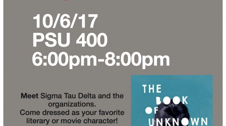 Sigma Tau Delta Meet and Greet