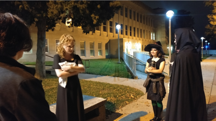 Students recount a tale on the MSU Haunted Tour