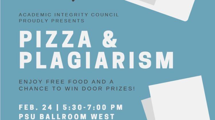 Pizza & Plagiarism Flyer
