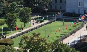 Avenue of Flags in honor of Public Affairs Week