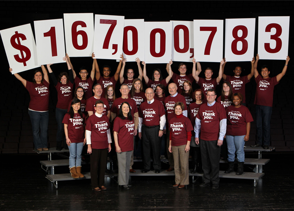 Our Promise Campaign raised $167,000,783.00.
