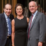 Sam and June Hamra with President Clif Smart