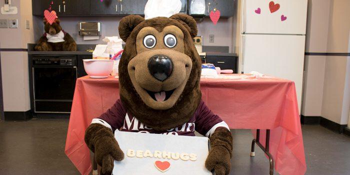 Boomer bakes BearHugs cookies!