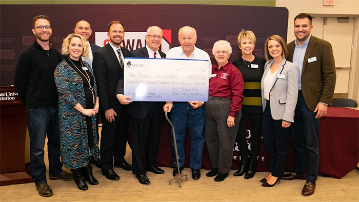Darr Family Foundation presents Missouri State with $6.5 million check