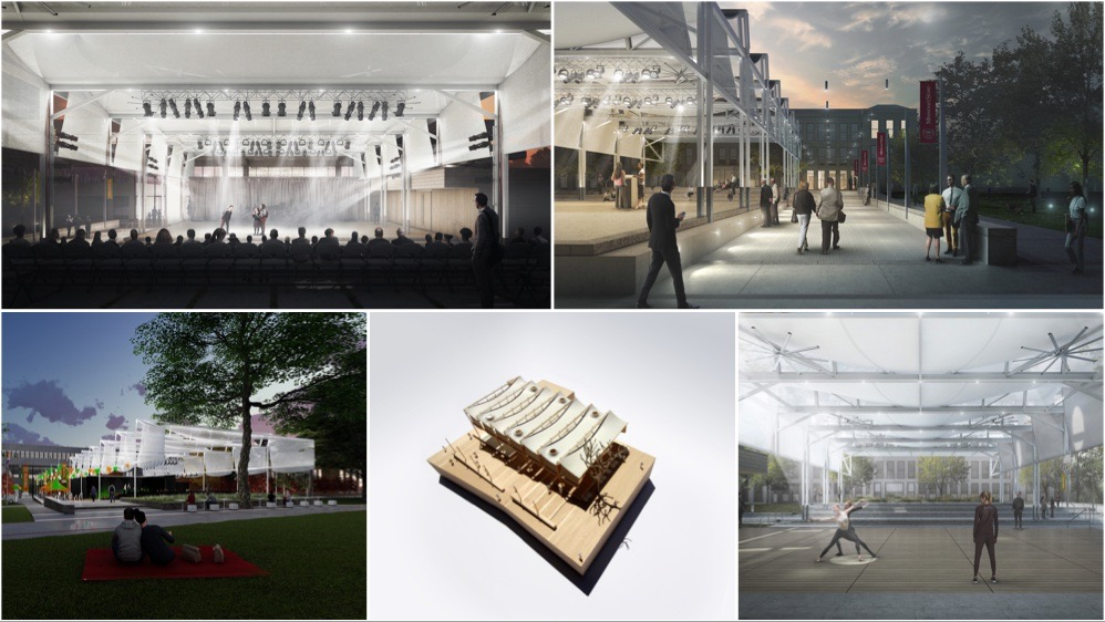 The proposed amphitheater and arts park artist's renderings.