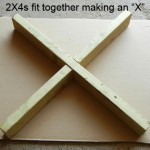 Step 2. Fit 2X4s together