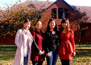 Pictured from left to right are Jia Wang , Chunling Chen , Guimei Qi , and Rong Qu.