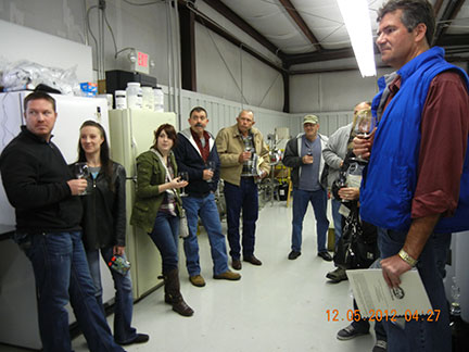 After the workshop, people toured the winery and tasted our wines.