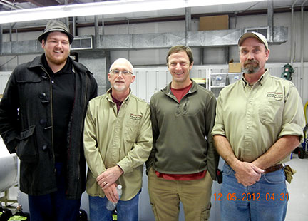 The gang was happy that everything went well at the workshop. Josh Glasson (left), Karl Wilker. Todd Frye and C. J. Odneal.