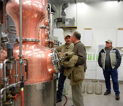 There were lots of questions as to the operation of the still.