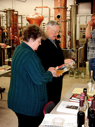 There were several brandies and eau de vies to sample.
